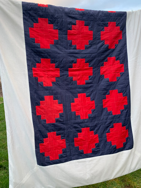 Single Patchwork Quilt In Vintage Liberty Fabrics