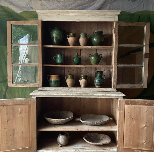 Tall Painted Pine Glazes Cabinet