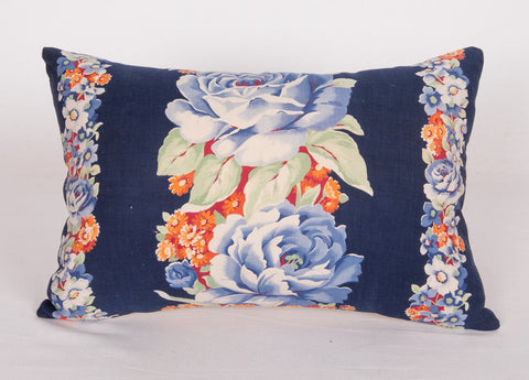 Vintage Russian Roller Printed Fabric Cushion Cover