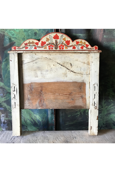 1920's Folk Painted Single Headboard