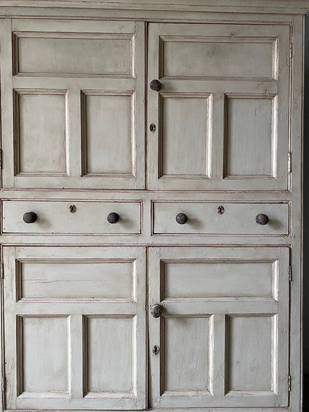 Antique Painted Pine Press Cupboard