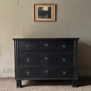 Antique Pine Chest In Neo-Classical Style