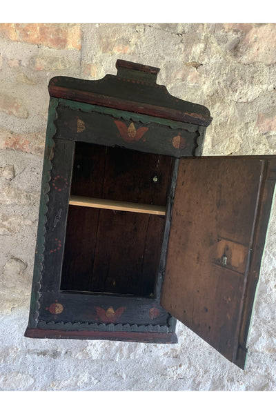 Original Eastern European Decorated Wall Cabinet