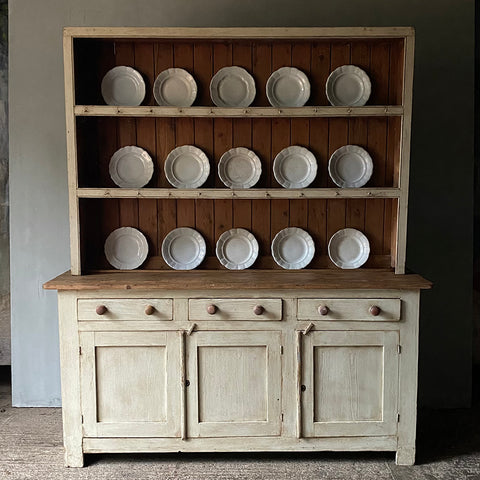 English Painted Pine Dresser