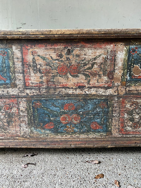 Folk Painted Marriage Chest