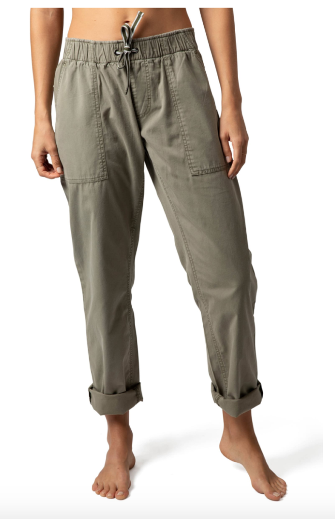 A striped cargo pants. Easy-fitting cotton-canvas pants styled with casually cuffed straight legs. Nordstrom