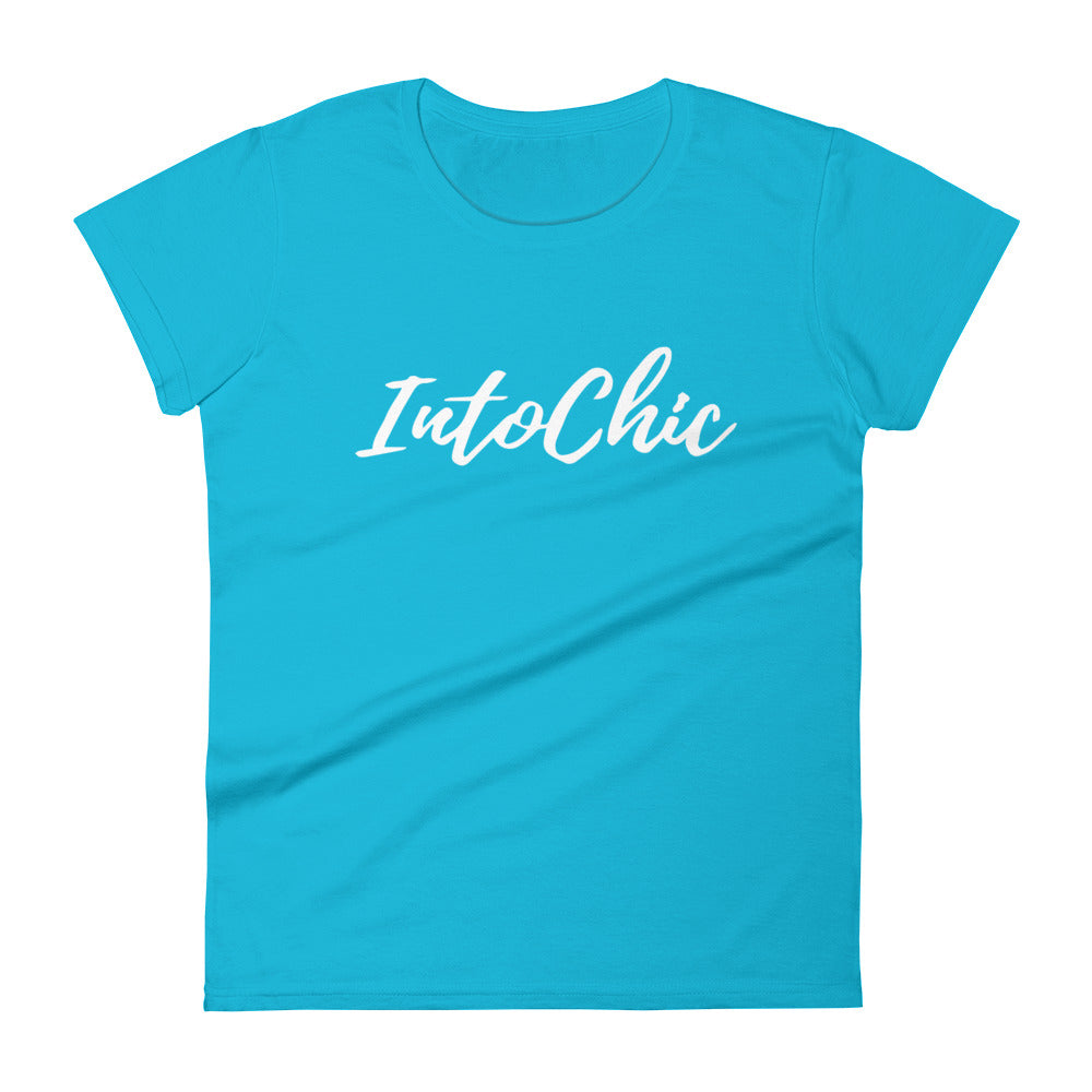 Women Graphic Tees Fashion Looks Slogan IntoChic White