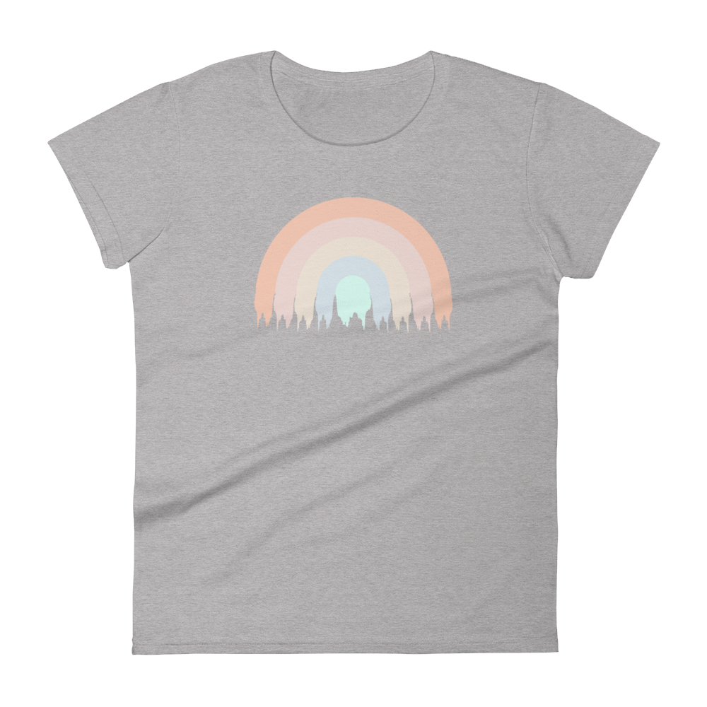 Women's Short Sleeve Graphic Tee Rainbow