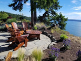 adirondack chairs and coffee table