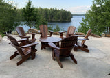 Adirondack chair set with coffee table