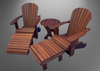 adirondack chair patio set