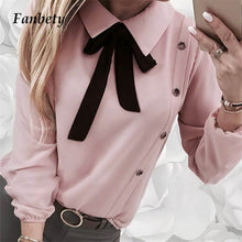 Load image into Gallery viewer, dropshipping women ladies long sleeves casual blouses - YR.SOOQ