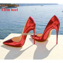 Load image into Gallery viewer, dropshipping women high heels shinning silver shoes - YR.SOOQ