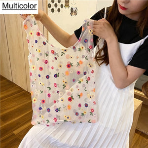 dropshipping women handmade flower embroidery had bag - YR.SOOQ