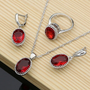 dropshipping women 925 silver jewellery sets - YR.SOOQ