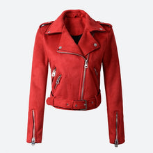 Load image into Gallery viewer, women faux pu leather jacket