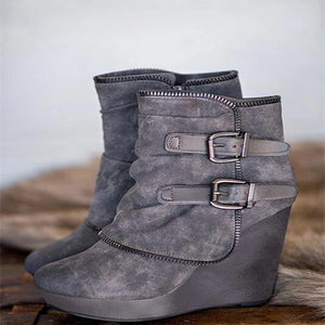 women ankle velvet boot