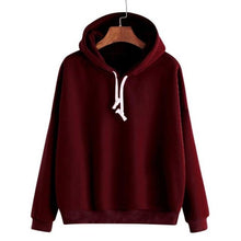 Load image into Gallery viewer, women casual hooded sweatshirt