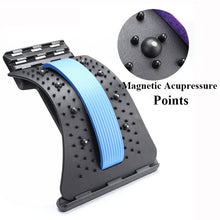 Load image into Gallery viewer, Back Massager Stretcher Equipment Massageador Magic Support Stretch Fitness Relaxation Spine Pain Lumbar Relief Back Stretcher