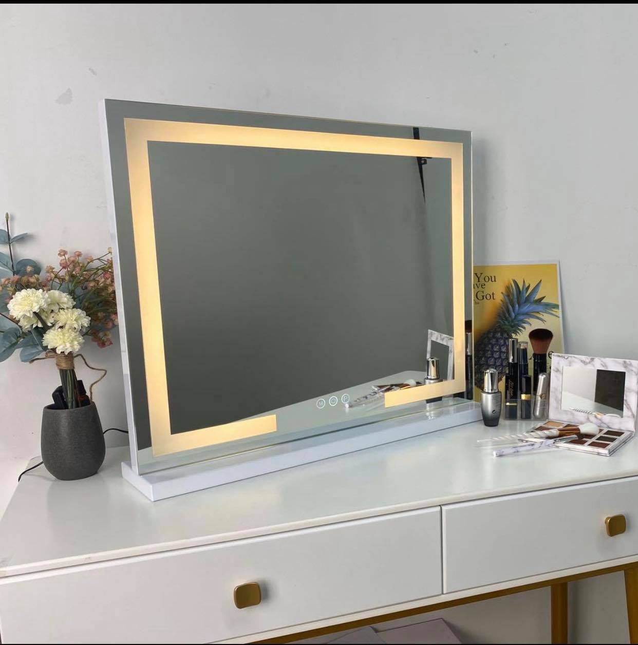 LED Strip Mirror 100x80