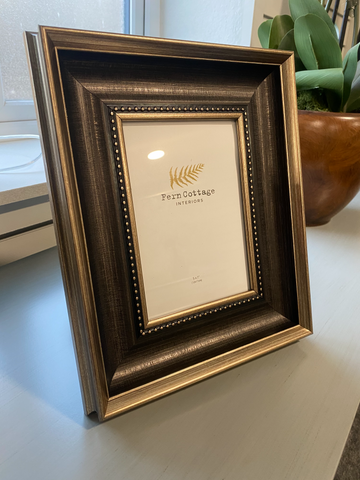 BLACK AND BRUSHED GOLD FRAME 5X7