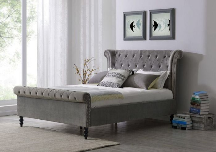 Ariel Silver - Super King Bed