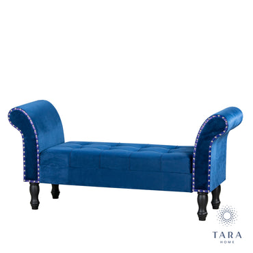 ROYAL BLUE STORAGE BENCH