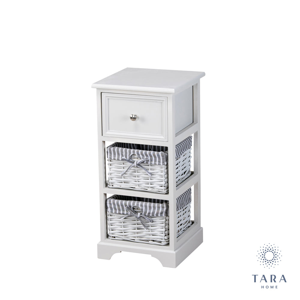 CHESTER 1 DRW 2 BSK STORAGE UNIT GREY