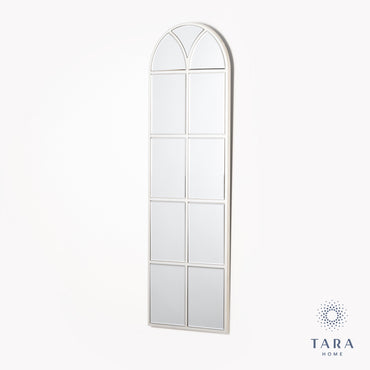 SLIM PALLADIAN WINDOW MIRROR SOFT CHAMP 119CM