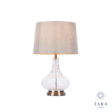 LANA FLAIR TABLE LAMP CHARCOAL 63CM