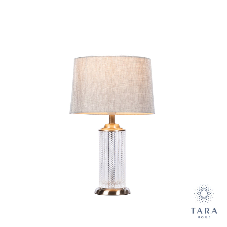 LANA CYLINDER TABLE LAMP CHARCOAL 44CM
