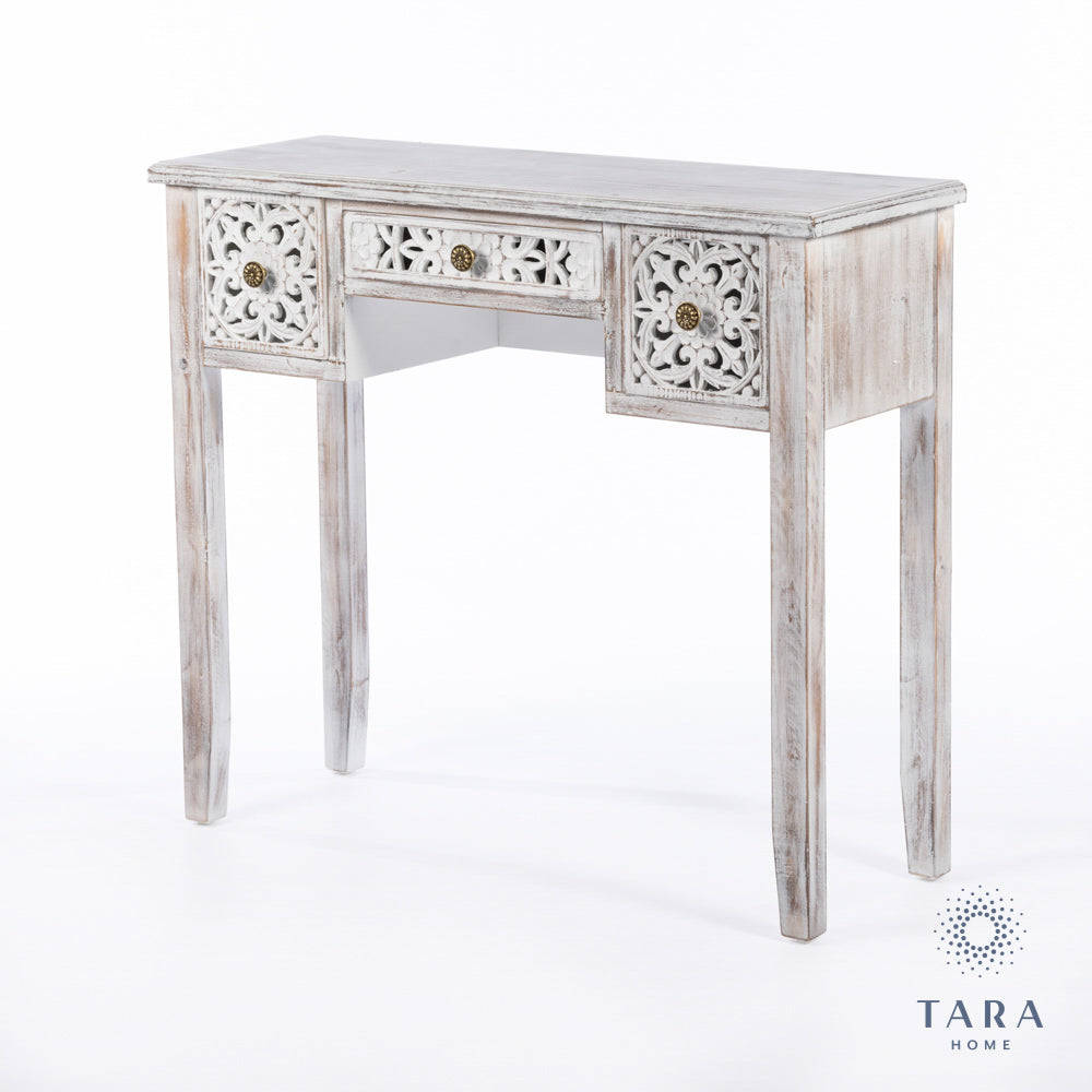 JESSIE CONSOLE TABLE ANTIQUE WHITE 100CM