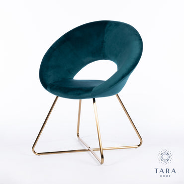 OSLO VELVET ACCENT CHAIR TEAL
