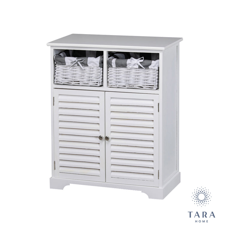 BOSTON 2 DOOR 2 BSK STORAGE CABINET WHITE