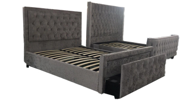 Carolina Storage Bed Grey King with free mattress