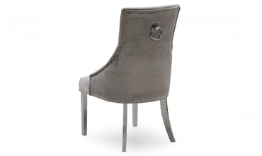 Belvedere Chair grey velvet