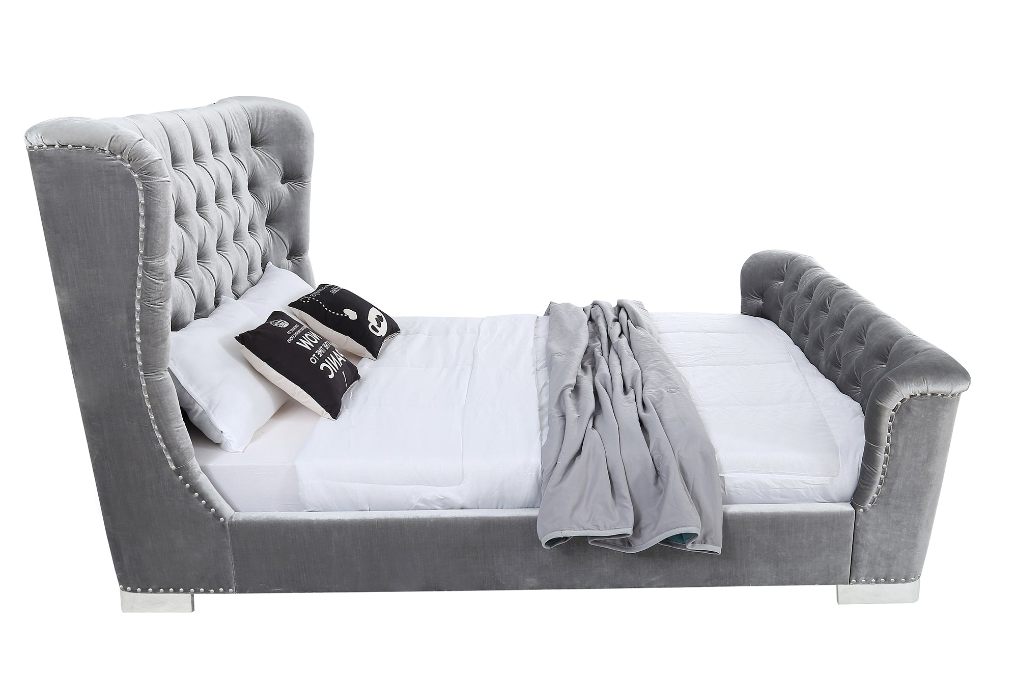 Belvedere 6' Bed - Pewter