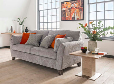 Cantrell 3 Seater - Silver