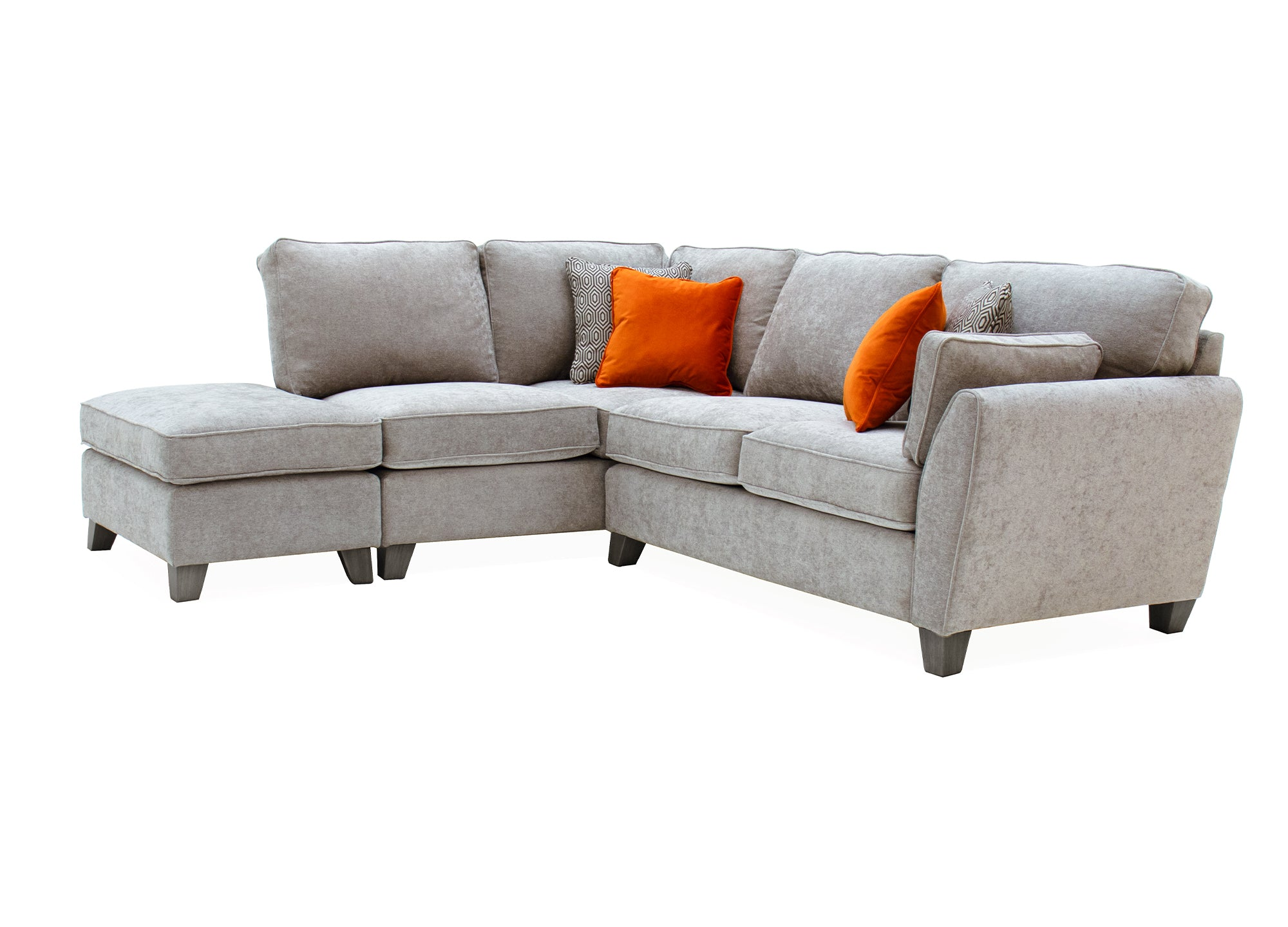 Cantrell Corner Group - Silver (LHF) (4 Scatter Cushions)