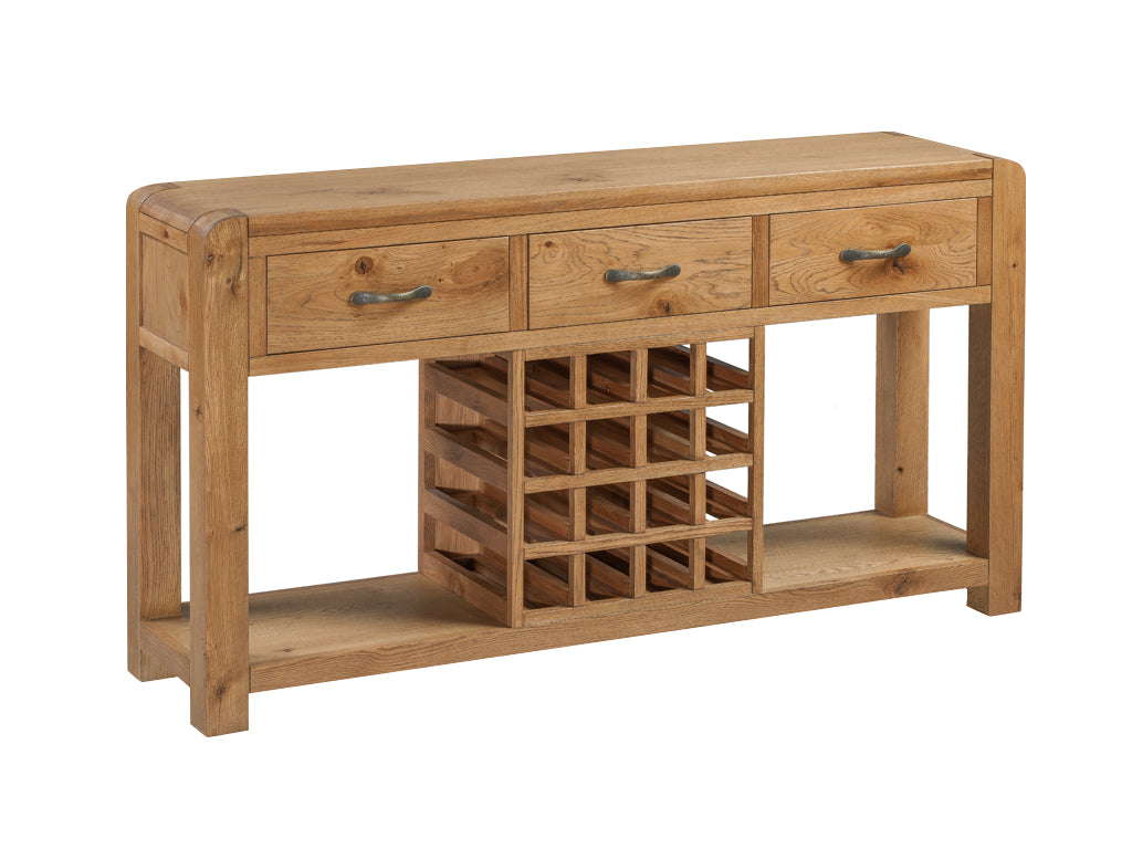 Capri Oak Sideboard with Wine Rack