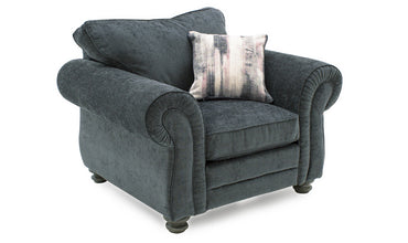 Hollins 1 Seater Fixed - Charcoal