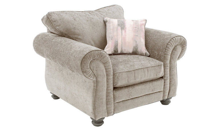 Hollins 1 Seater Fixed - Mink