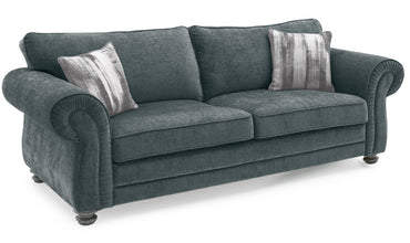 Hollins 3 Seater Fixed - Charcoal