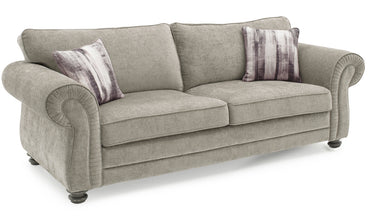 Hollins 3 Seater Fixed - Mink
