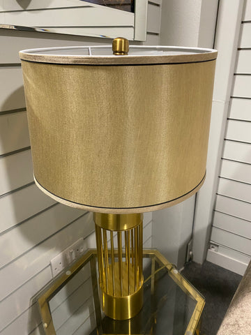 Gold Table Lamp Cylindrical
