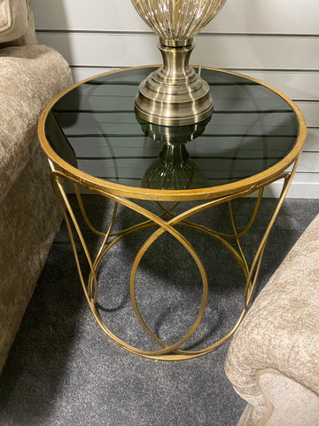 Black and Gold Side Table - Floor Display