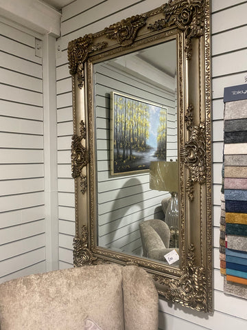 Romo Mirror Silver - Floor Model