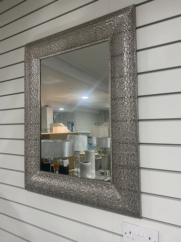 Plated Rectangular Metal Mirror