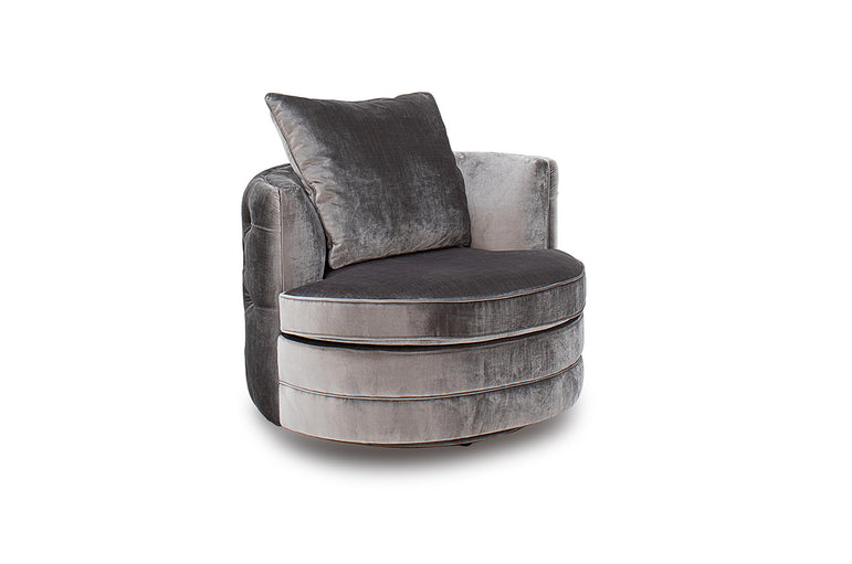 Nicolette Swivel Chair - Pewter (Nett)