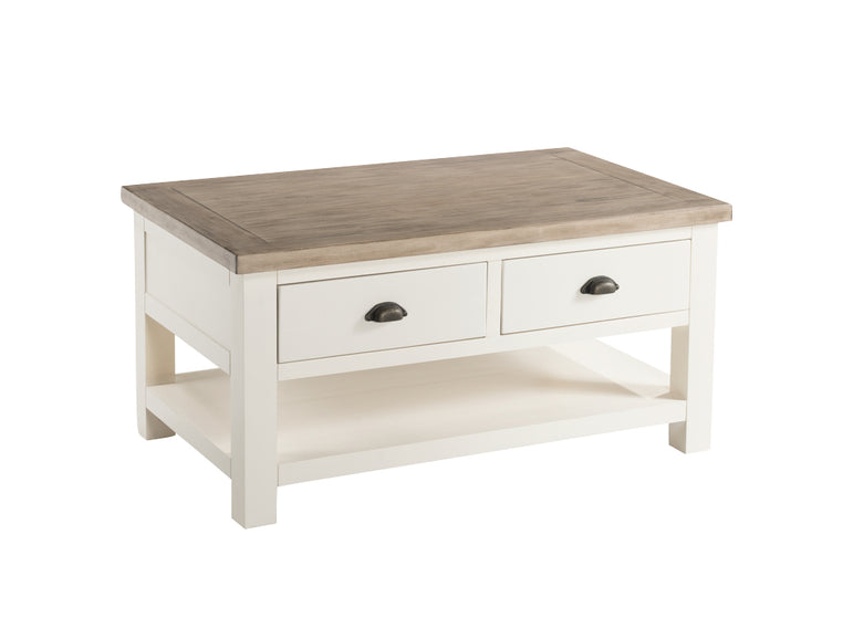 Santorini Stone Painted Storage Coffee Table